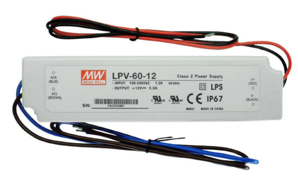 LED-muuntaja Mean Well LPV-60-12